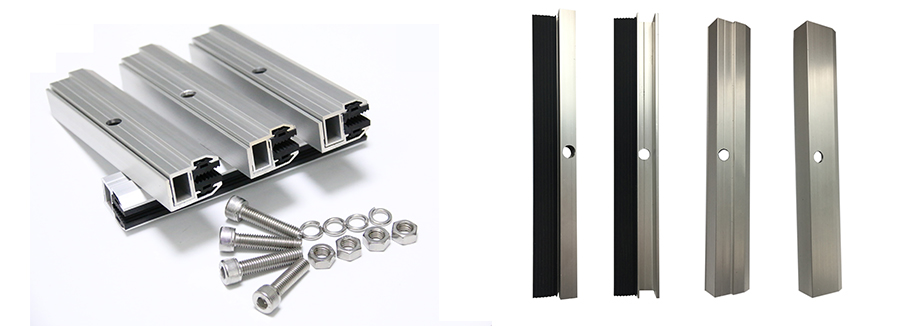 Thin Film End Clamps For Frameless Solar Module